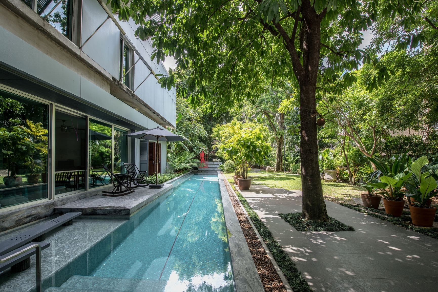 swimming pool in house